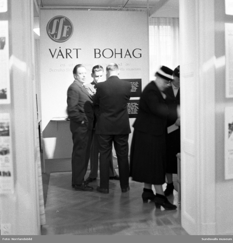 Hemslöjdsföreningens utställning på Sundsvalls museum.