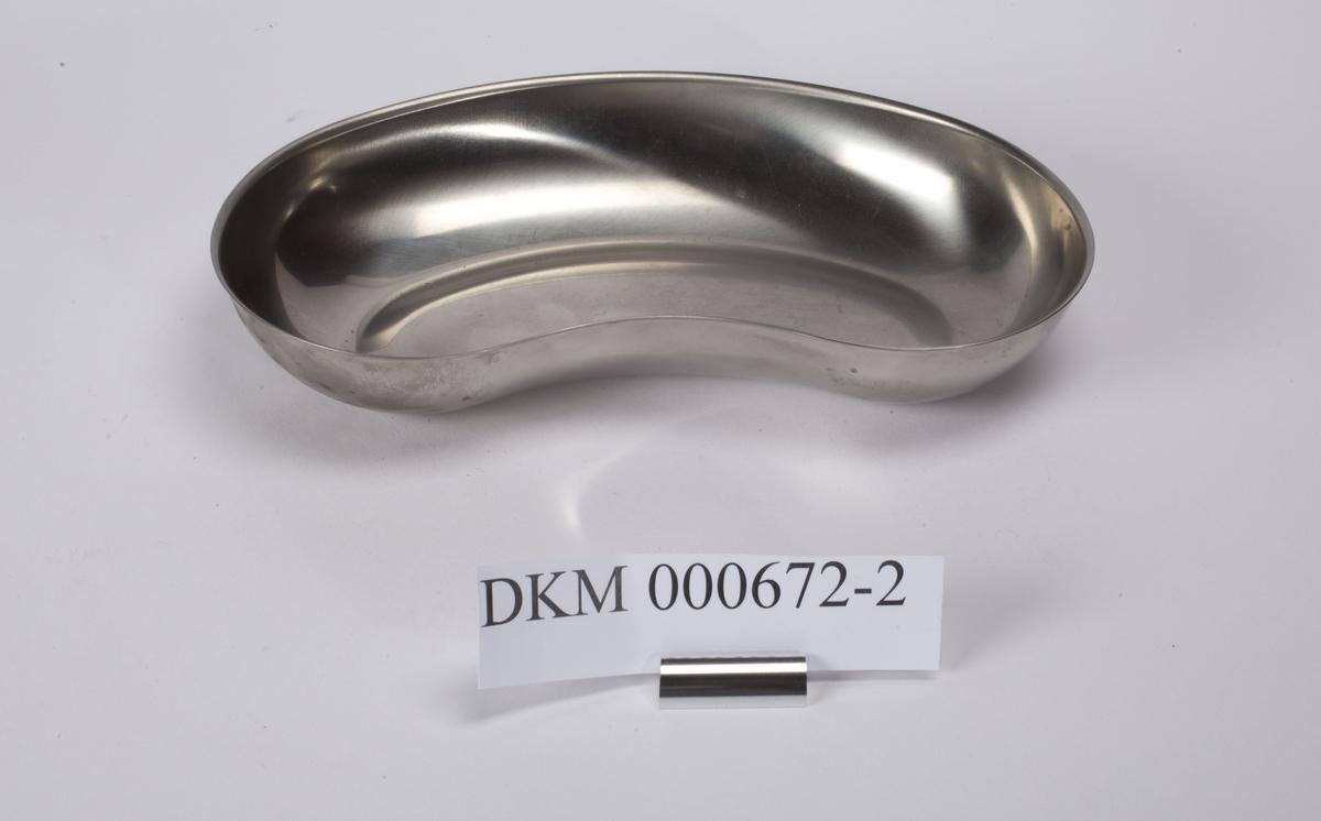 Ovalt bekken i rustfritt stål