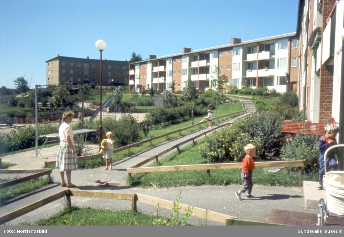 Bostadsområde i Skönsberg, kvarteret Alvaret vid Gillegränd-Skönsbergsvägen.
