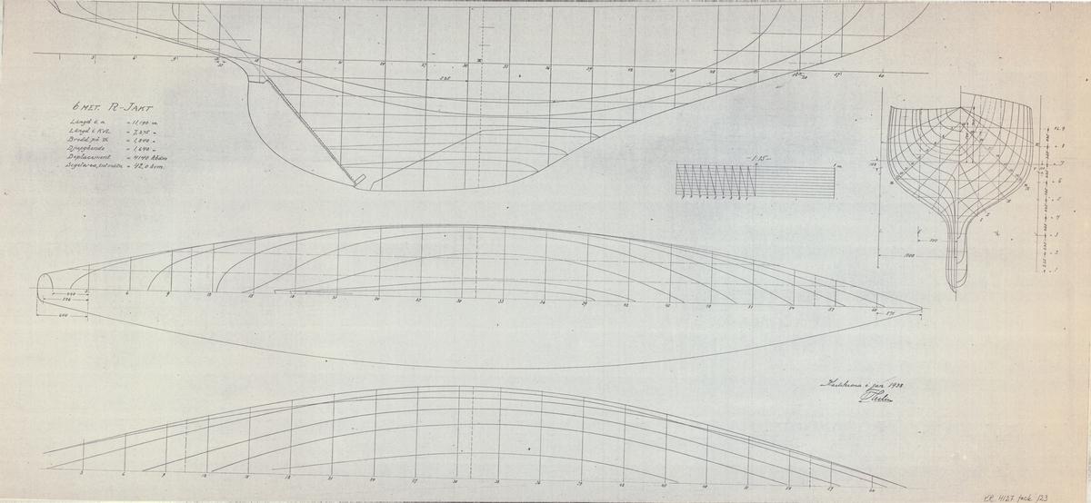 Plan, profil och linjeritning