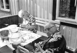 Hulda och Anna Andersson, Stockagård (Bäckaby socken)