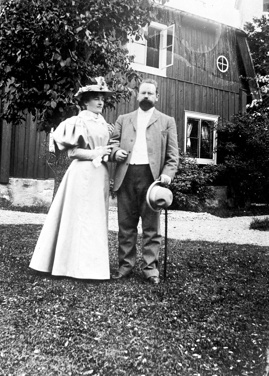 Redaktör Alsterlund. Fotograf: E Sörman ? Reproduktion efter Axel Gustavsson 1898-99.