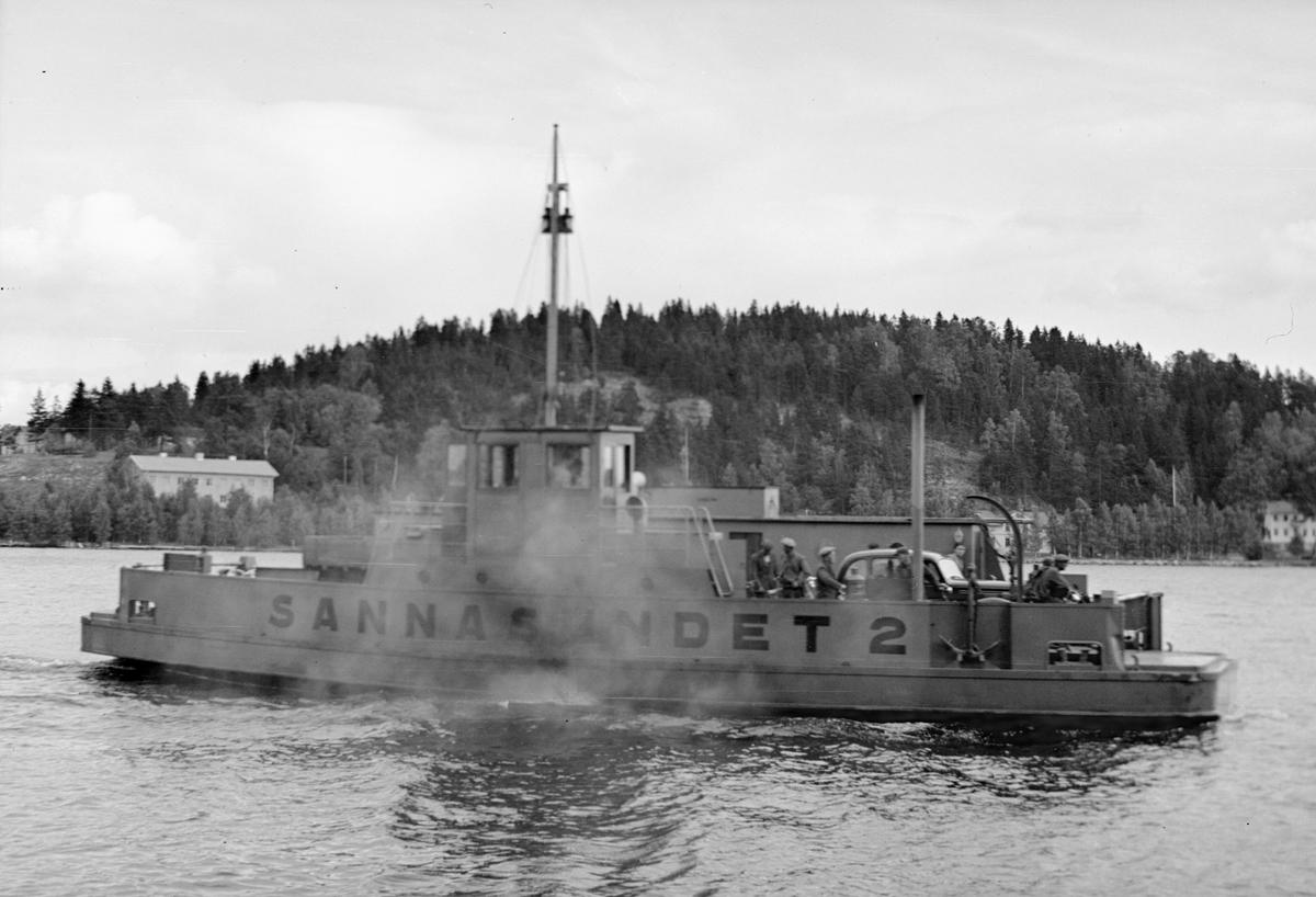 Fartyg: SANNASUNDET 2                  Längd över allt 7,2 meter Reg. Nr.: 10944 Rederi: Kungliga Väg- och Vattenbyggnadsstyrelsen Byggår: 1951 Varv: Djurgårdsvarvet Övrigt: Byggd som Sannasundet 2= Färja 61/158 (1956), =såld t Ålands landskapsstyrelse och omnamnad till Viggen.