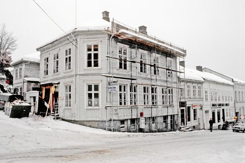 Bybebyggelse, trebebyggelse i Østegt. i Arendal.