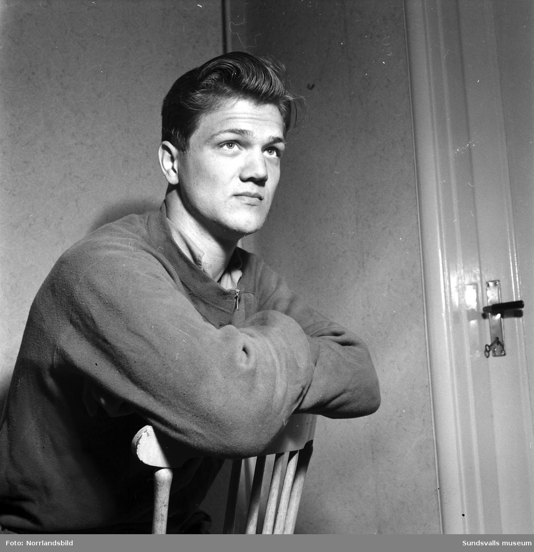 Åke Strindlund, Bergeforsen, kulstötare och diskuskastare.