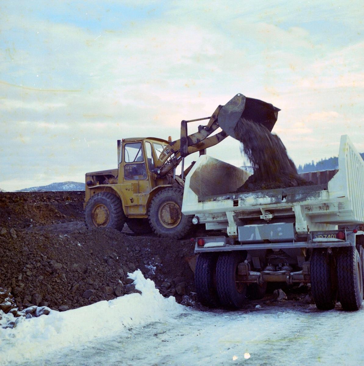 Lasting av masse på lastebil