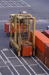 Containeren flyttes.