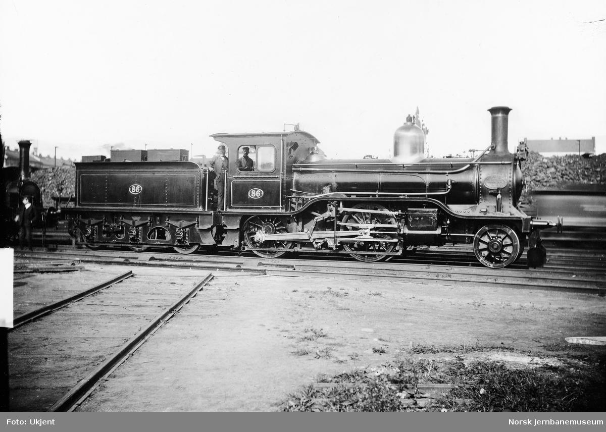 Hovedbanens damplokomotiv litra B nr. 86