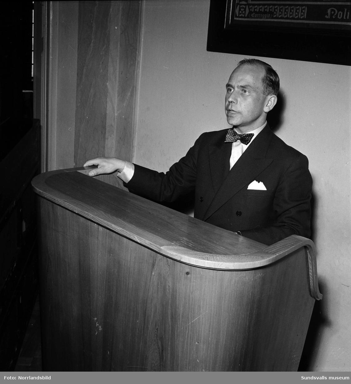 Nils Grufman, generalsekreterare i Svenska Eldbegängelseföreningen (nu Sveriges kyrkogårds- och krematorieförbund, SKKF).