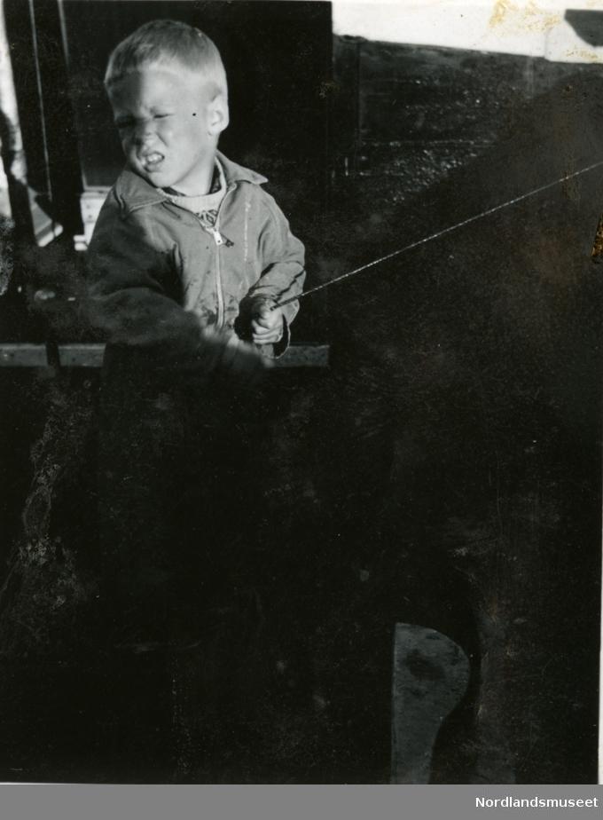 Arne Andersen i en båt?