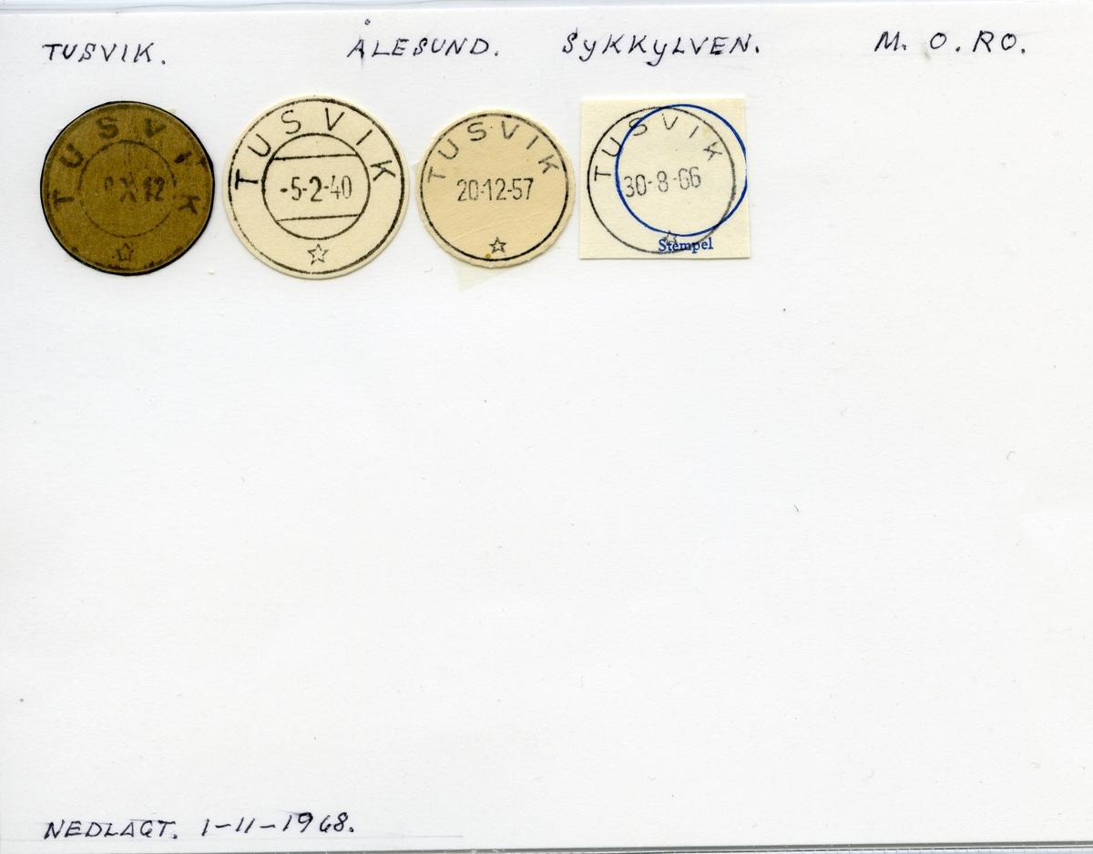 Stempelkatalog Tusvik, Ålesund, Sykkulven, Møre og Romsdal