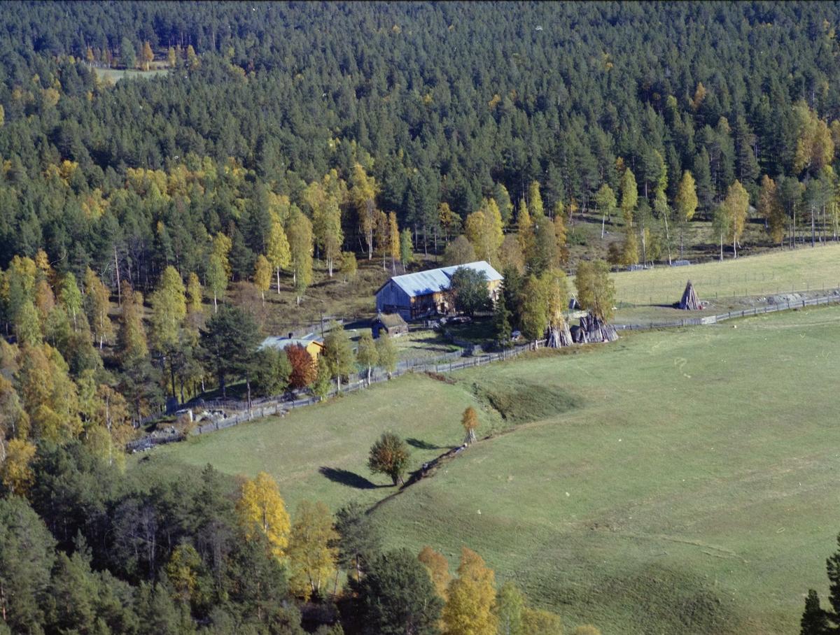 Flyfoto, gårdsbruk, Dovre kommune