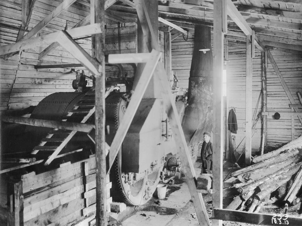 Porjus kraftverk. Ångpannerummet till varmskjulet i Stora älvfåran.