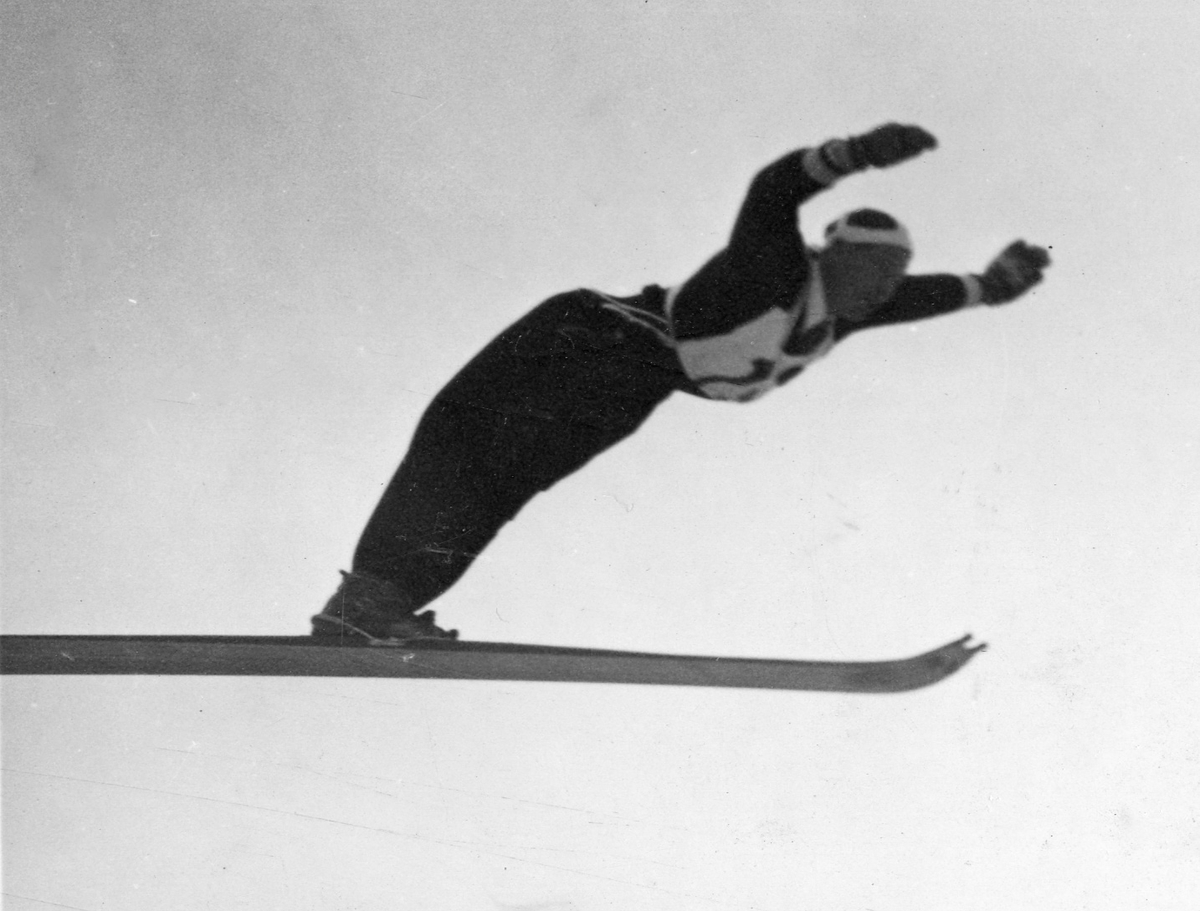 Olympic champion Birger Ruud in Garmisch 1936