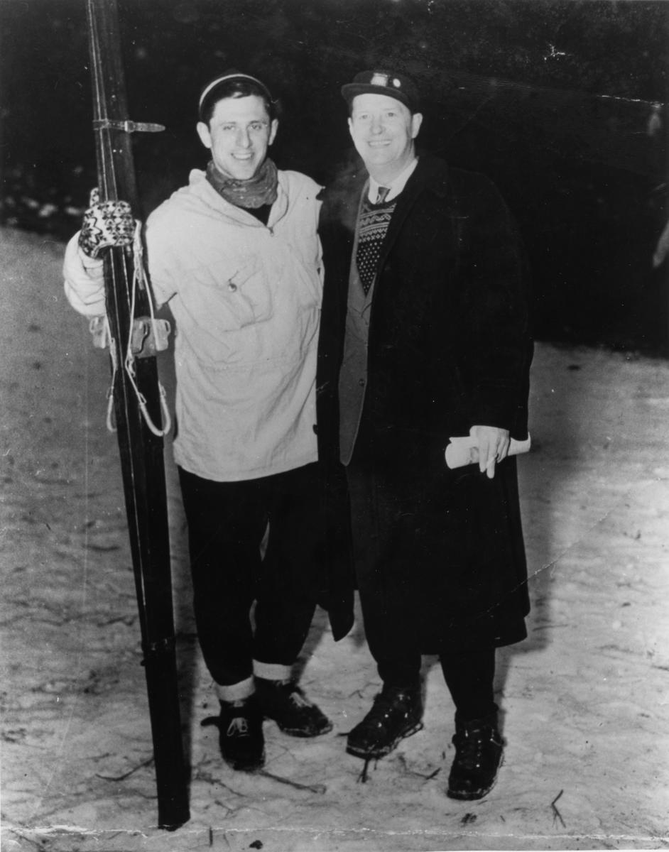 Kongsberg skiers Petter Hugsted and John Hostvedt in Chicago