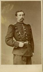 Porträtt av Claes August Christian Bratt, kapten vid Värmlan