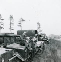 Teltleir i Tysklandsbrigaden 1948-49  Kristoffer Rust var d