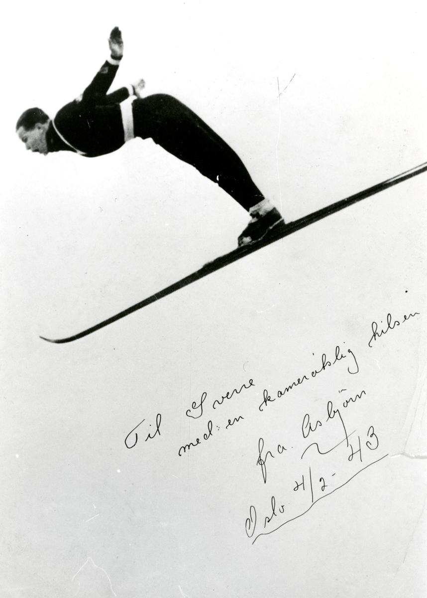 Kongsberg skier Asbjørn Ruud in action