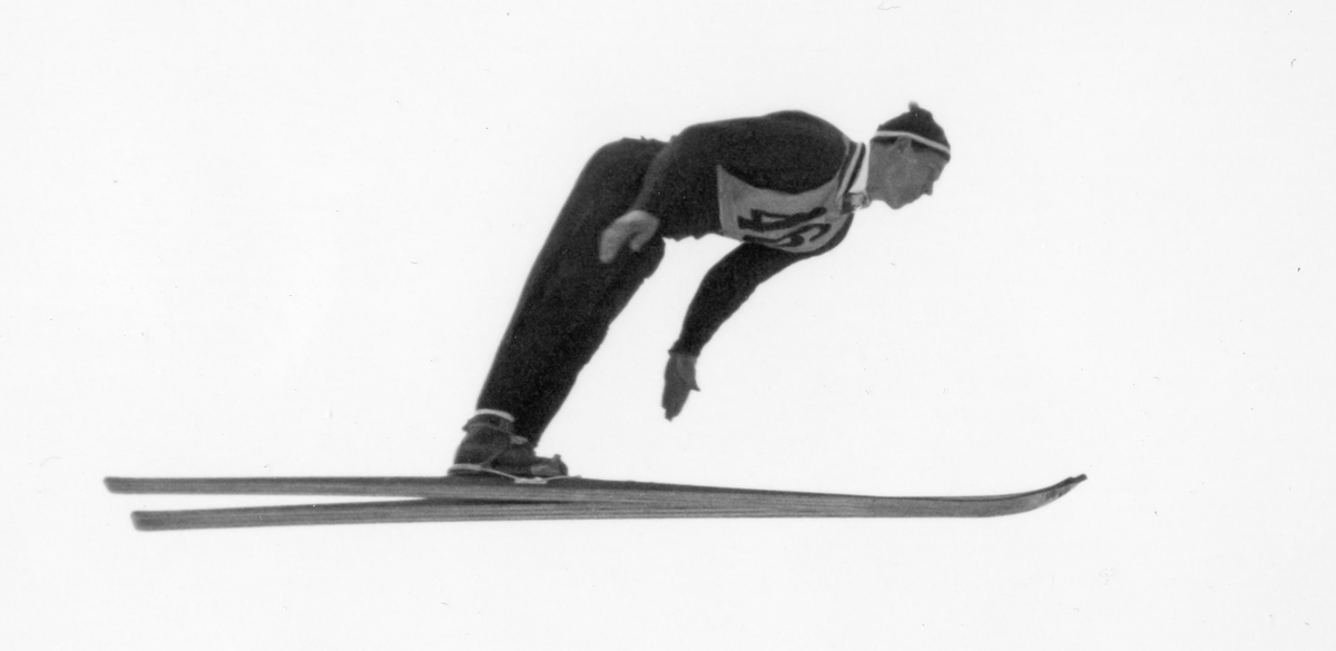 Norwegian athlete Birger Ruud in Garmisch-Partenkirchen 1936.