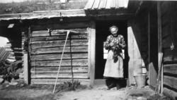 Margit Eikre ( 1879-1956), fødd Grøto. Her på Medgardsstølen