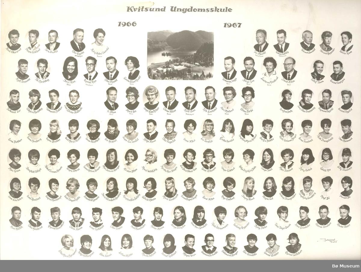 Kvitsund Ungdomsskule 1966 - 1967
