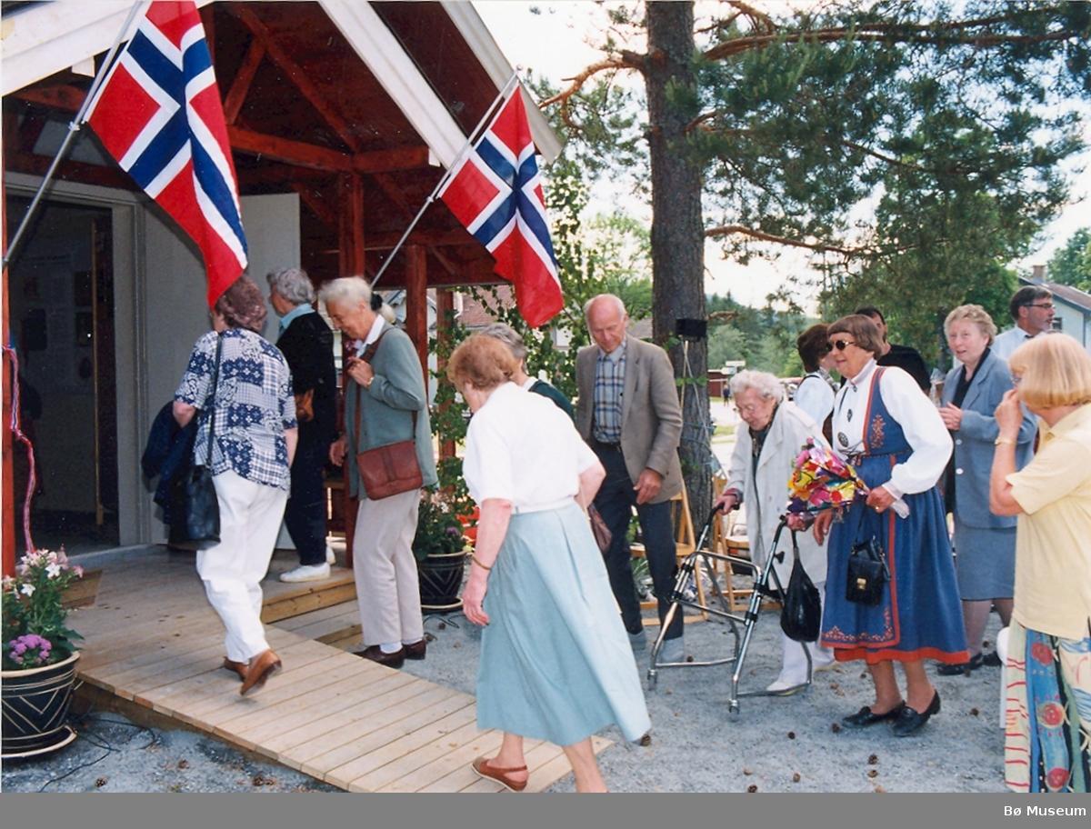 Frå åpninga av Utstillingsbygget, Bø Museum
