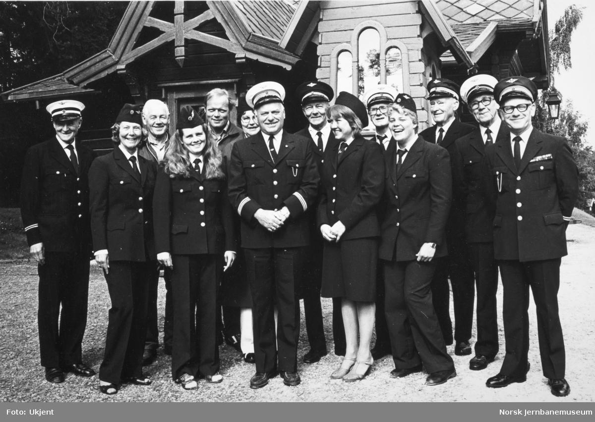 Personalet ved Jernbanemuseet 1981