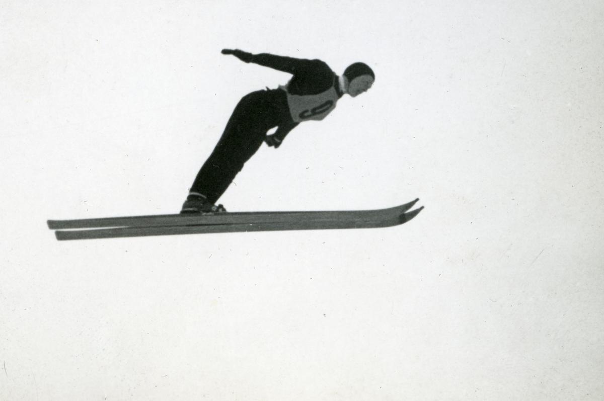 Norwegian athlete in action at Garmisch