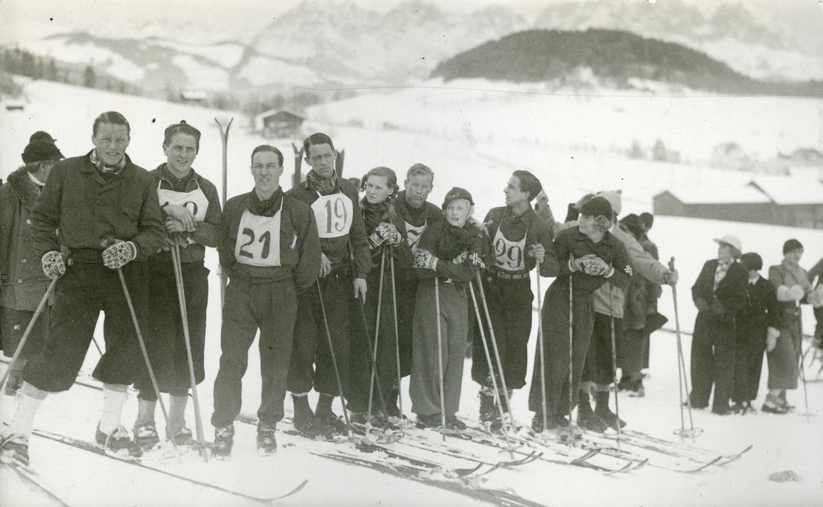 Members of the Norwegian skking team at Garmisch