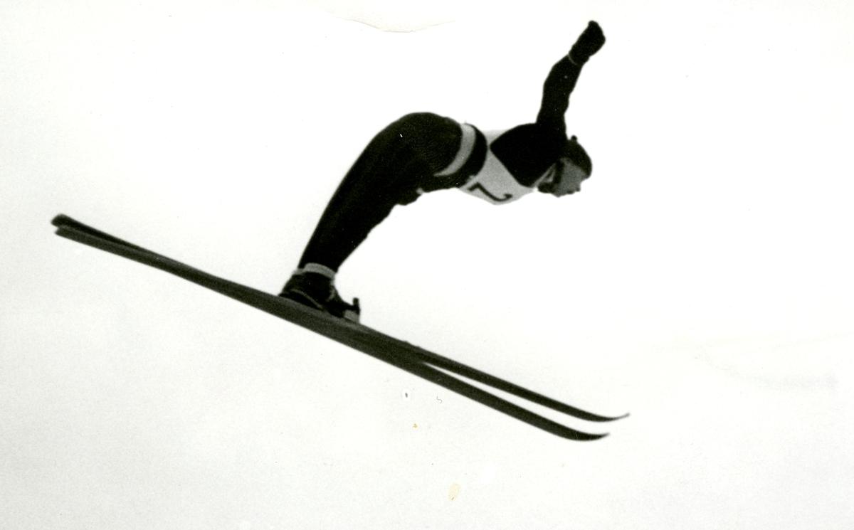 Athlete Birger Ruud at Holmenkollen