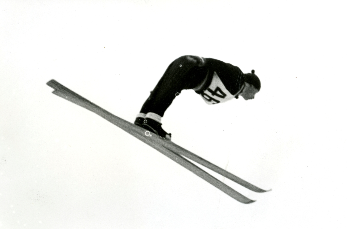 Norwegian skier in action