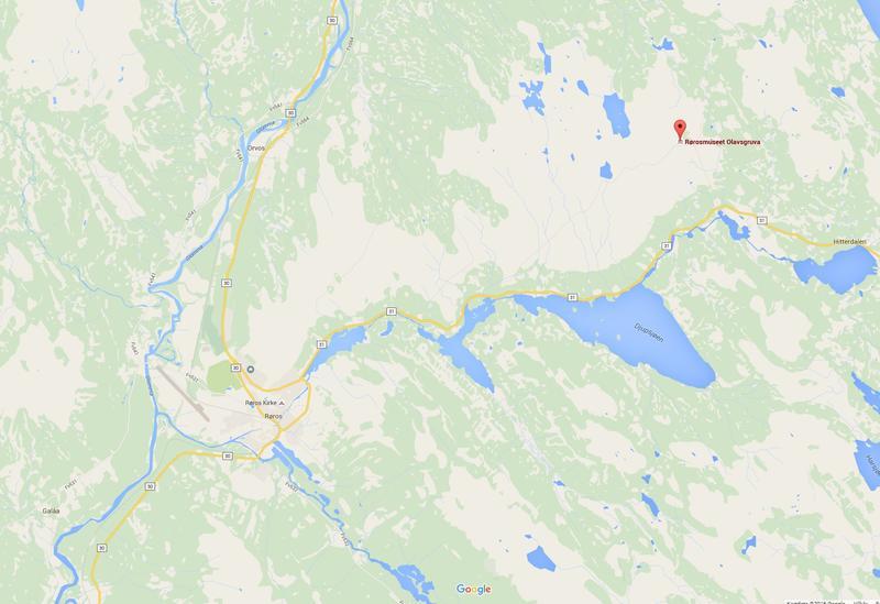 Olavsgruva kart. Foto/Photo