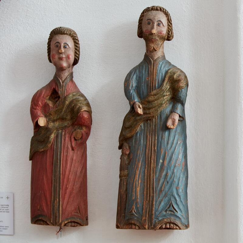 To evangelister. I utstillingen Norsk Kirkekunst (Foto/Photo)