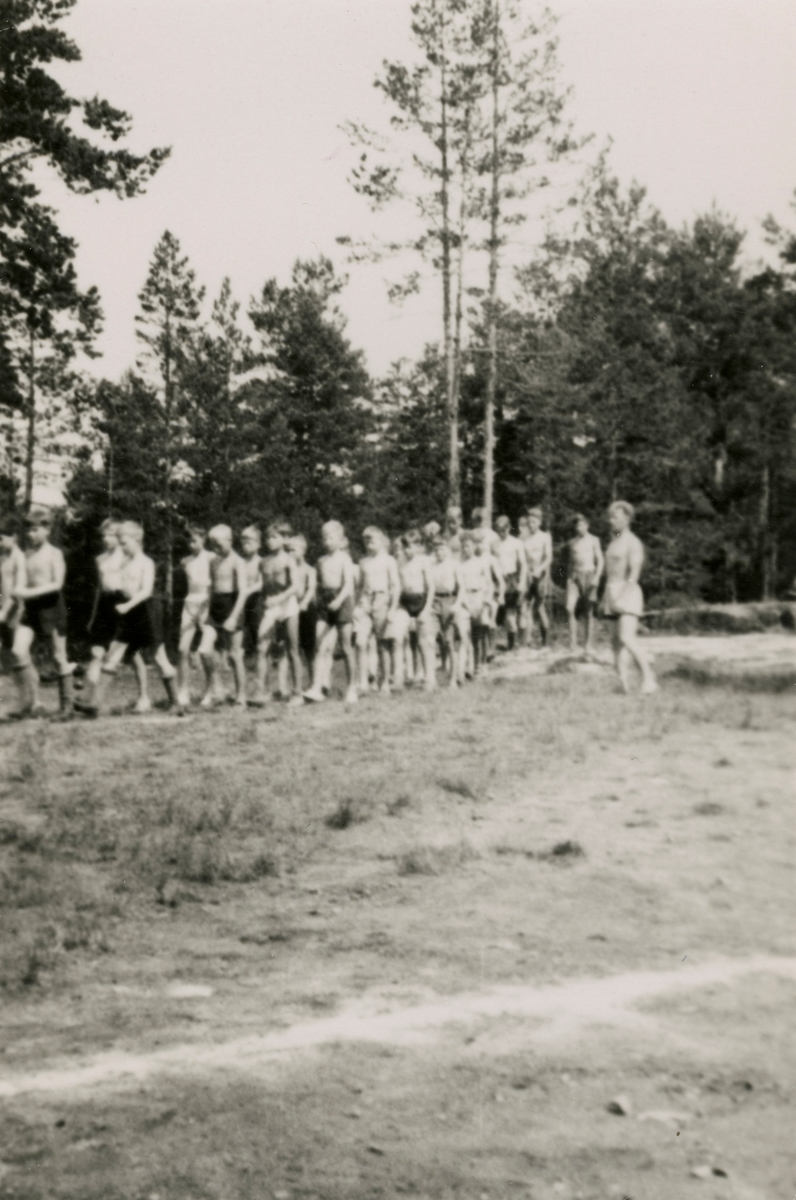 Yongsters at summer camp at Kongsberg