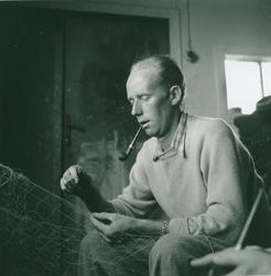 Fiskaren Nils Lindström, fotograferad på Stensö fiskeläge.