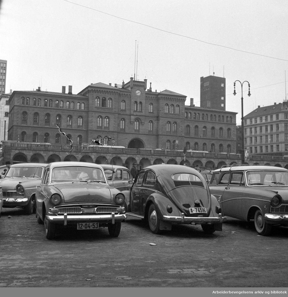 Møllergaten 19, Youngstorget, ca. 1965 - 1966.