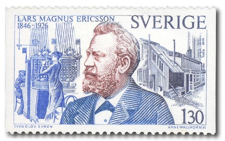 Lars Magnus Ericsson och telefonväxel.