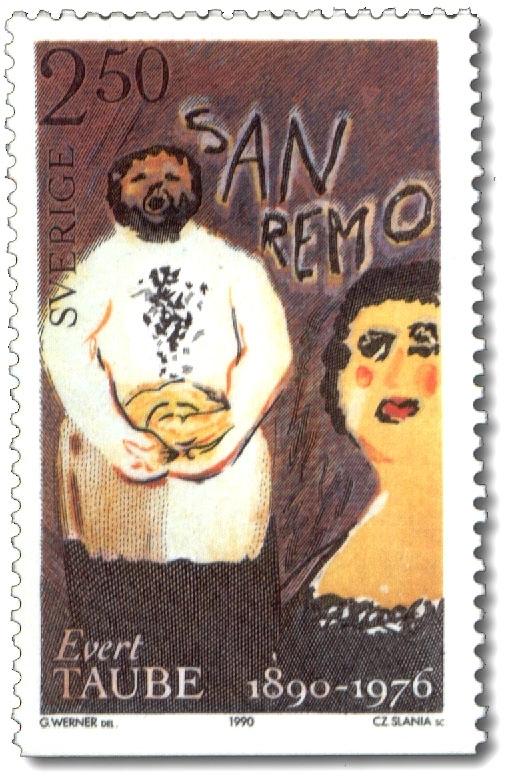 Taube: Den glade bagaren i San Remo.