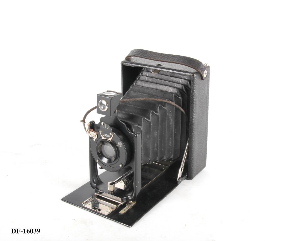 Fotoapparat med mattskive.