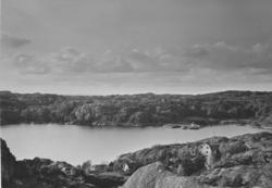 Utsikt över Böö, Lyrön från Vasseröd, Orust.