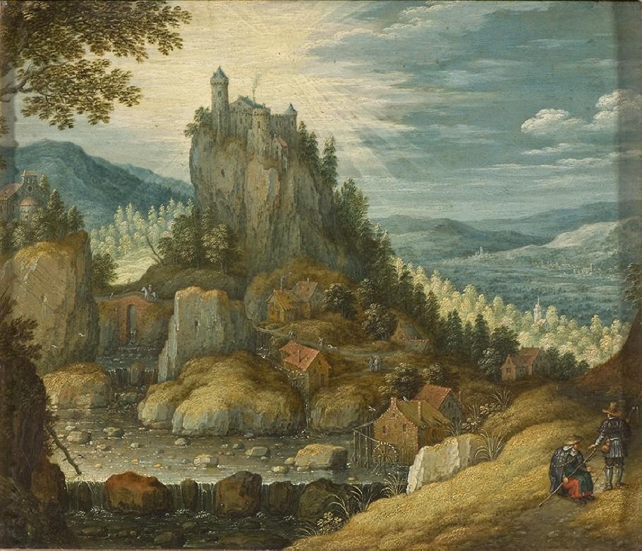 Landskap med borg