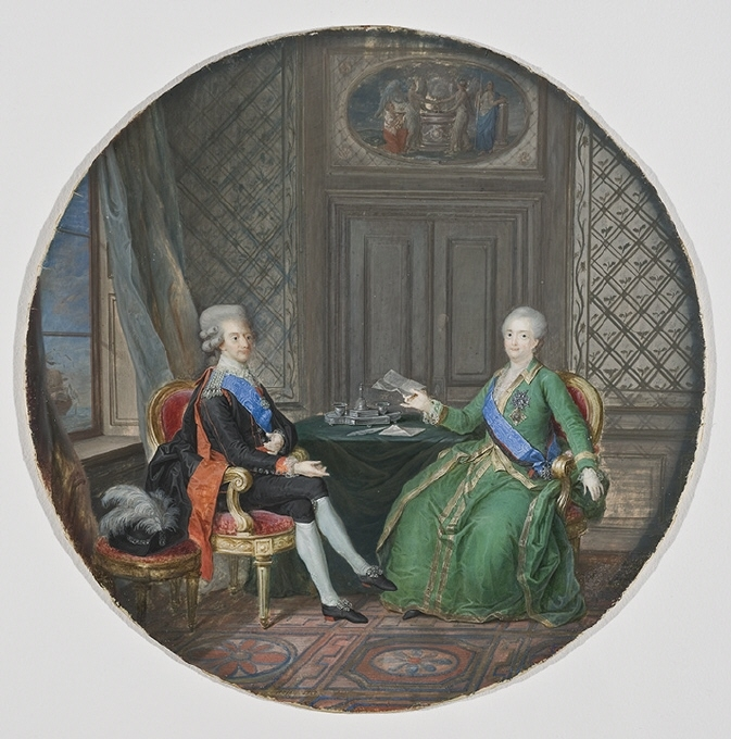 Gustaf III och Katarina II av Ryssland i Fredrikshamn 1783