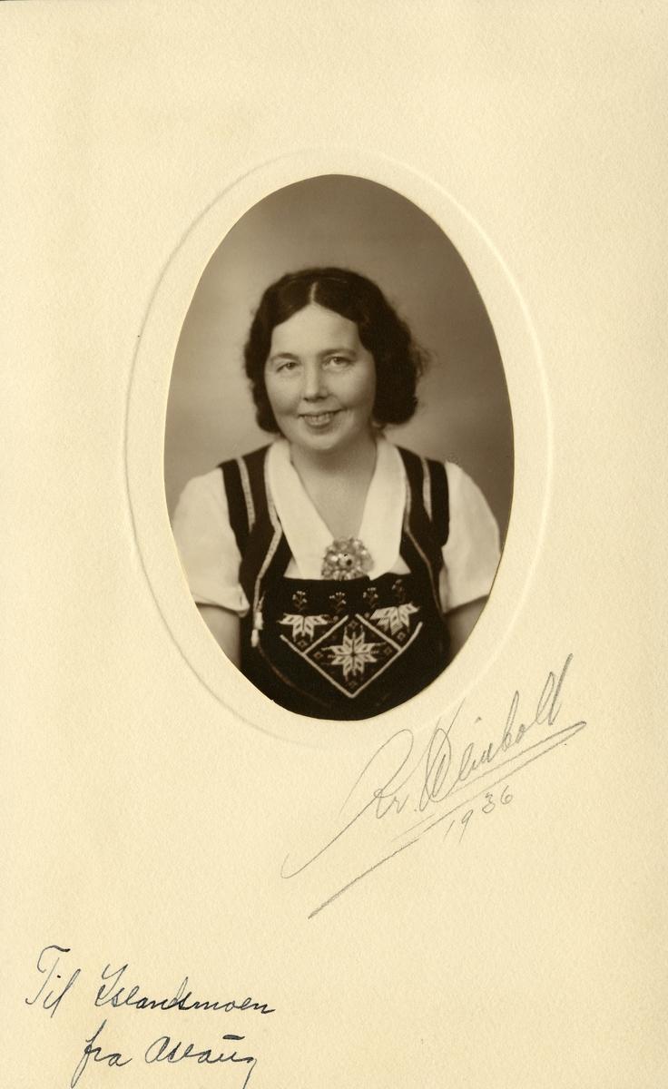 Portrett av Aslaug Finstad.