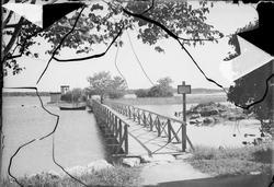 Bron över till kallbadhuset, Östhammar, Uppland