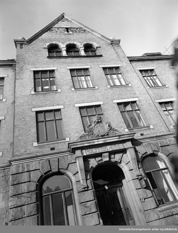 Grønland politistasjon, februar 1950.