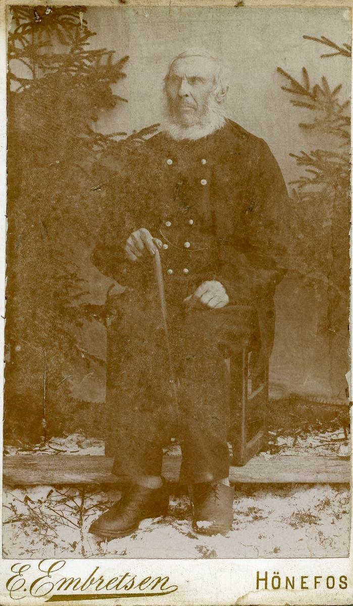 Portrett av Hans Pedersen Islandsmoen, 1892, 87 år gammel.