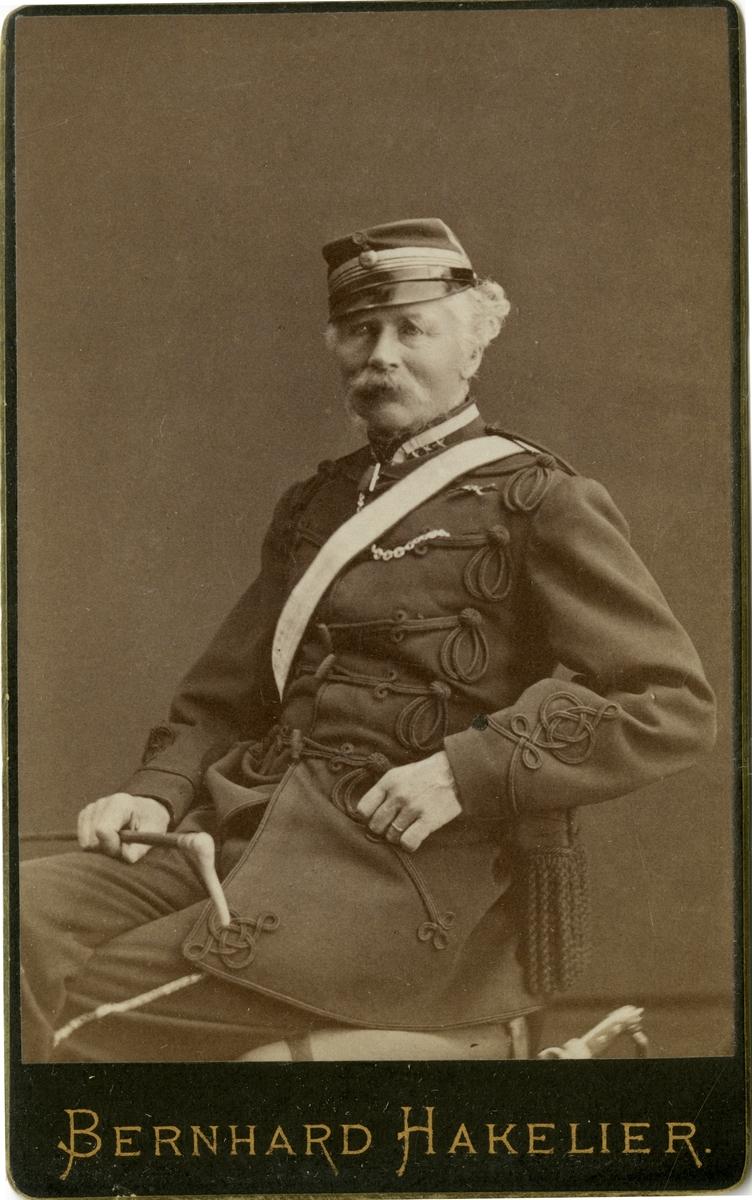 Porträtt av Gustaf Reinhold Lagerhjelm, överste i armén. Se även AMA.0006740.