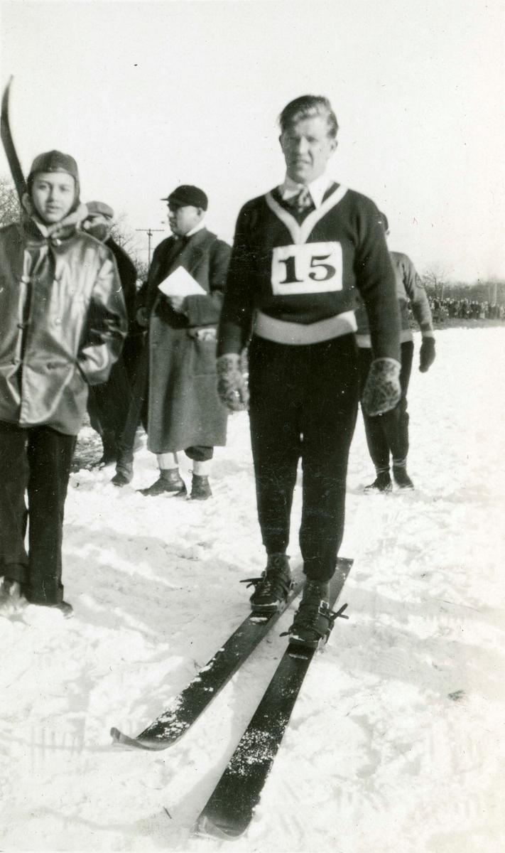 Athlete Birger Ruud during OG in Lake Placid