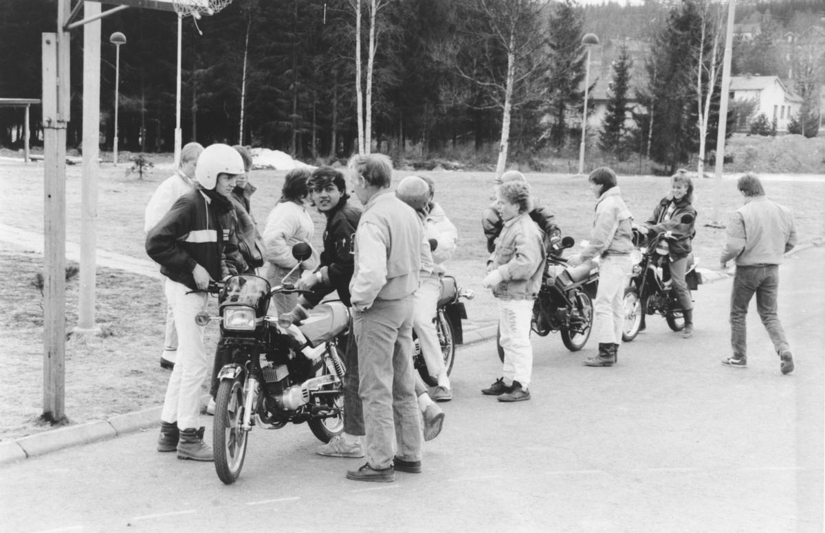 Mopedundervisning på Hakadal ungdomsskole.