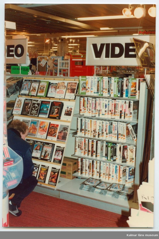Domus videoavdelning, början av 1980-talet.